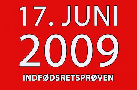 indfoedsretsproeven den 17.juni 2009